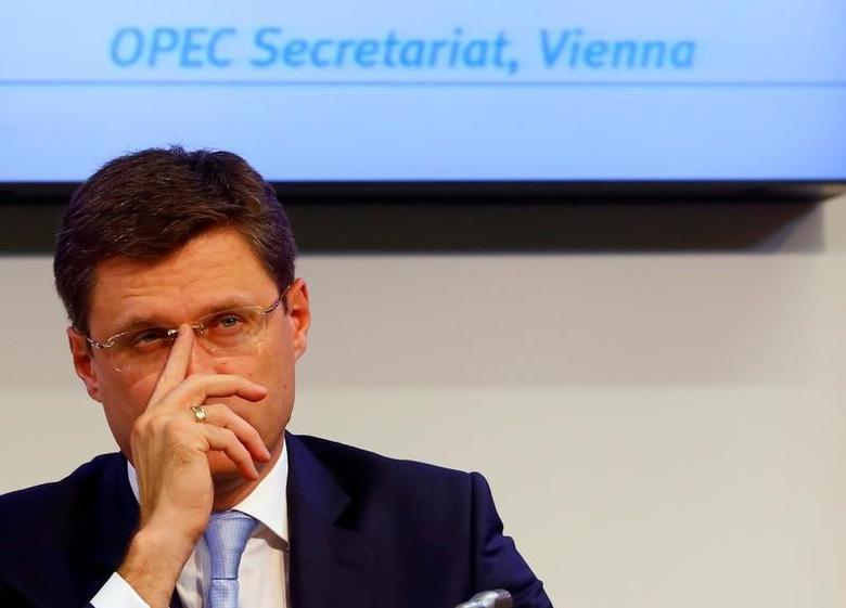 Russian Energy Minister Alexander Novak addresses a news conference in Vienna, Austria, October 24, 2016.   REUTERS/Leonhard Foeger