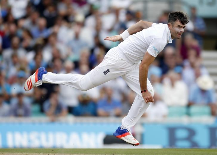 England v Pakistan - Fourth Test - Kia Oval - 13/8/16 . England's James Anderson in action. Action Images via Reuters / Paul Childs Livepic