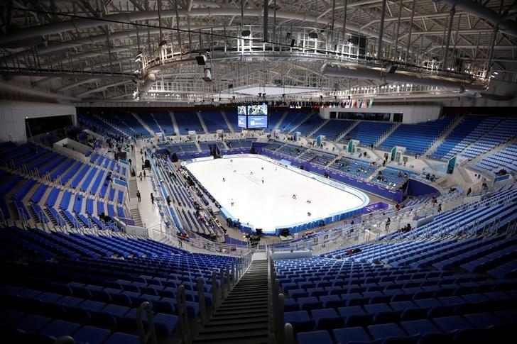 The Gangneung Ice Arena, where the Pyeongchang Winter Olympics will be held, is seen in Gangneung, South Korea, February 17, 2017.  REUTERS/Kim Hong-Ji/File Photo