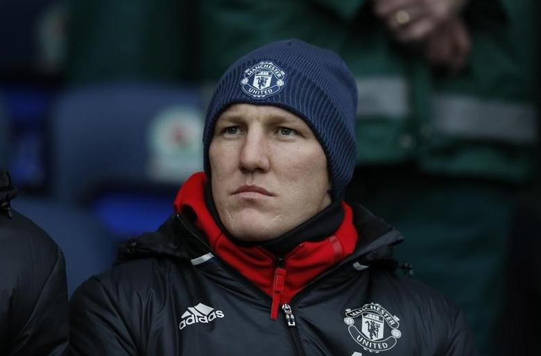 Britain Football Soccer - Blackburn Rovers v Manchester United - FA Cup Fifth Round - Ewood Park - 19/2/17 Manchester United's Bastian Schweinsteiger before the match  Reuters / Phil Noble Livepic