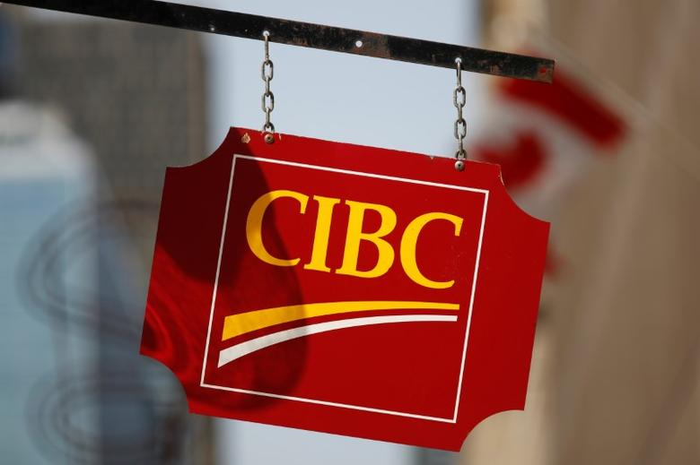 A Canadian Imperial Bank of Commerce (CIBC) sign is seen outside of a branch in Ottawa, Ontario, Canada, May 26, 2016. REUTERS/Chris Wattie