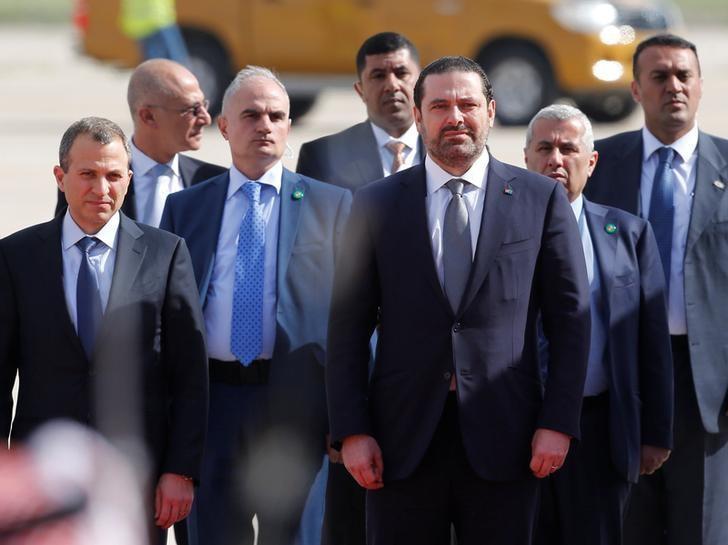 Lebanon's Prime Minister Saad al-Hariri arrives at the Queen Alia International Airport in Amman, Jordan March 28, 2017. REUTERS/Muhammad Hamed