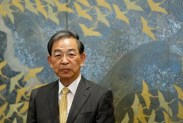3月31日、日本取引所グループ(JPX)の清田瞭・最高経営責任者(CEO)は定例会見で、東芝に内部体制確認書の再提出を求めることは考えていないと述べた。写真は都内で14日撮影(2017年 ロイター/Issei Kato)