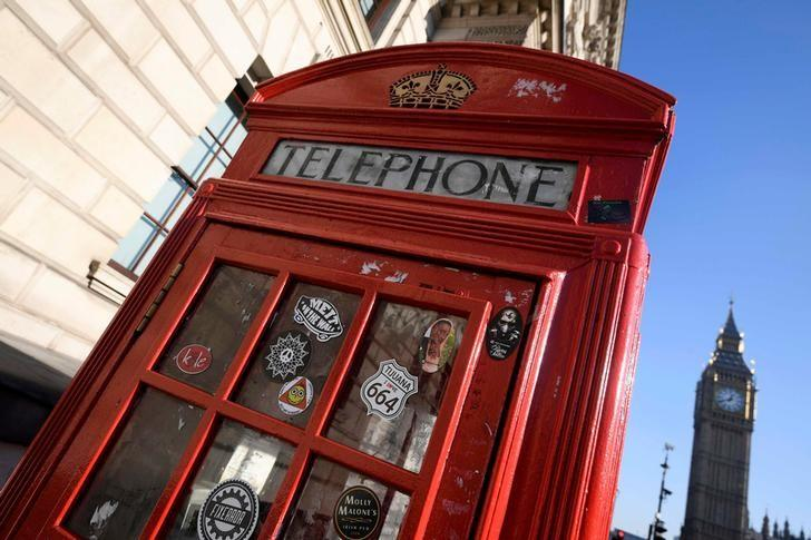 FILE PHOTO: A BT phone box is seen in London, Britain, January 24, 2017. REUTERS/Toby Melville/File Photo