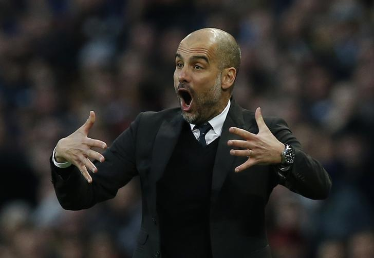 Britain Soccer Football - Manchester City v Liverpool - Premier League - Etihad Stadium - 19/3/17 Manchester City manager Pep Guardiola  Reuters / Andrew Yates Livepic/Files