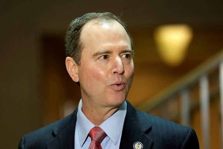 U.S. House Permanent Select Committee on Intelligence ranking member Representative Adam Schiff (D-CA) speaks with reporters about the Committee's Russia investigation on Capitol Hill in Washington, U.S., March 30, 2017. REUTERS/Yuri Gripas