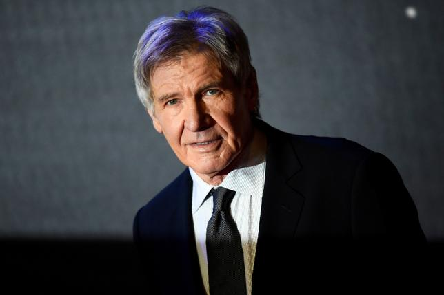 FILE PHOTO: Harrison Ford arrives at the European Premiere of Star Wars, The Force Awakens in Leicester Square, London, December 16, 2015.       REUTERS/Dylan Martinez/File Photo