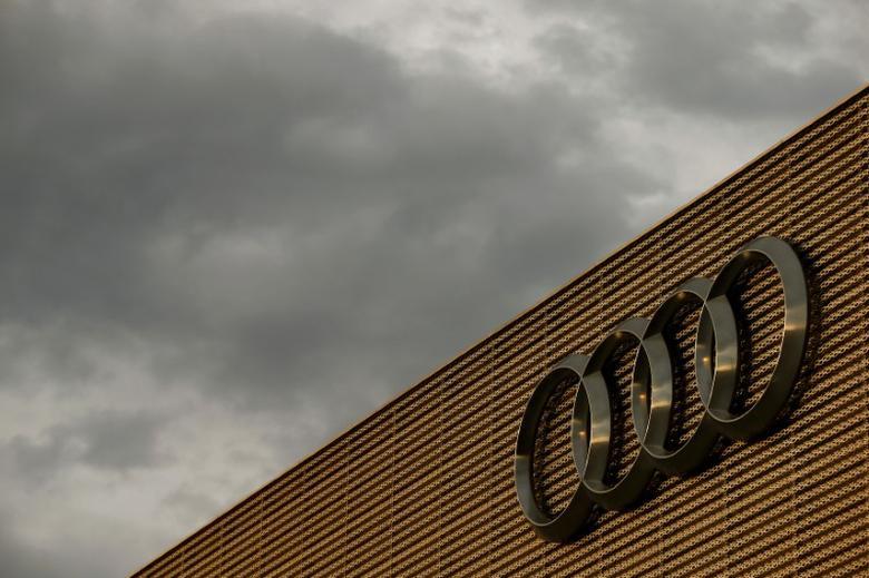 The logo of German car manufacturer Audi is seen at a building of a car dealer in Duebendorf, Switzerland November 22, 2016.    REUTERS/Arnd Wiegmann