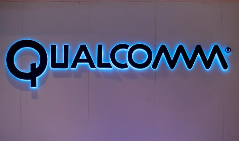 Qualcomm's logo is seen during Mobile World Congress in Barcelona, Spain, February 28, 2017. REUTERS/Eric Gaillard/Files