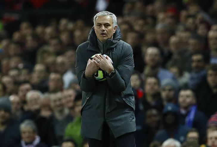 Britain Football Soccer - Manchester United v Everton - Premier League - Old Trafford - 4/4/17 Manchester United manager Jose Mourinho  Action Images via Reuters / Jason Cairnduff Livepic