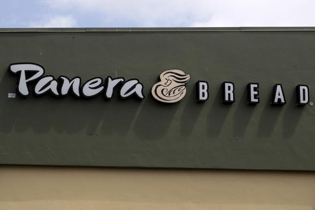 A Panera restaurant logo is pictured on a building in North Miami, Florida March 19, 2016. REUTERS/Carlo Allegri