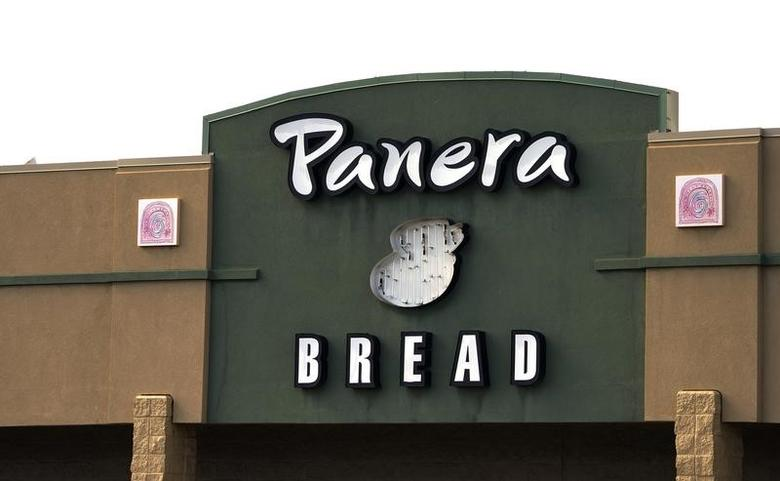 The sign on the hood of a delivery truck for Panera Bread Co. is seen in Westminster, Colorado February 11, 2015. REUTERS/Rick Wilking