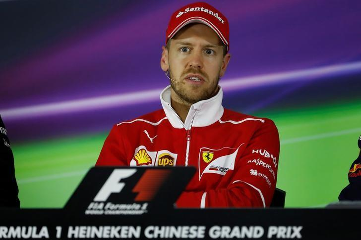 Formula One - F1 - Chinese Grand Prix - Shanghai, China - 6/4/17 - Ferrari Formula One driver Sebastian Vettel of Germany attends a press conference at the Shanghai International Circuit ahead of the Chinese F1 Grand Prix. REUTERS/Aly Song/Files