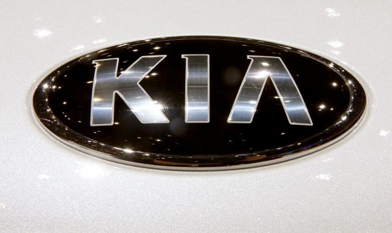 The logo of Kia is seen during the 87th International Motor Show at Palexpo in Geneva, Switzerland March 8, 2017. REUTERS/Arnd Wiegmann