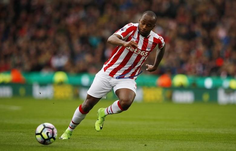 Britain Football Soccer - Stoke City v Chelsea - Premier League - bet365 Stadium - 18/3/17 Stoke City's Saido Berahino in action Reuters / Phil Noble Livepic