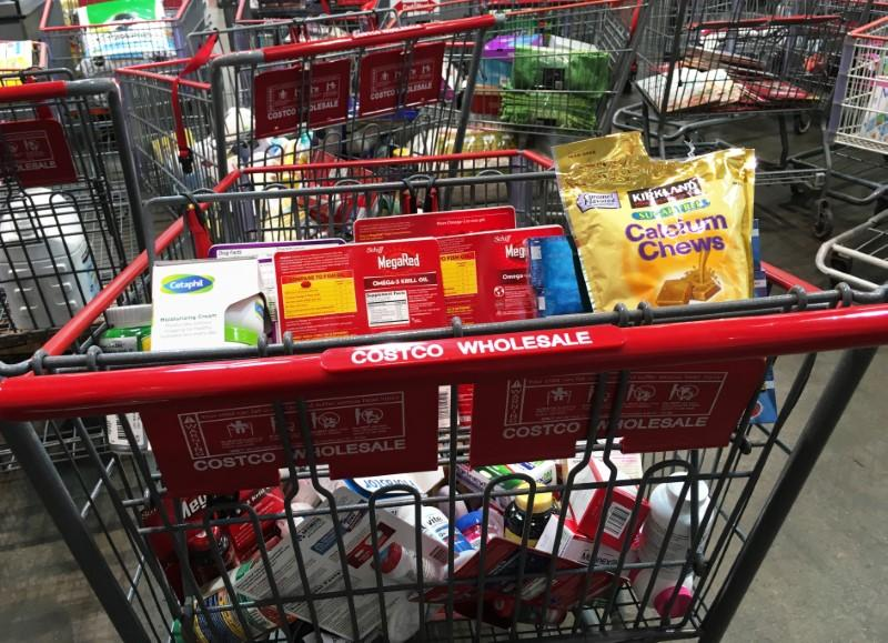 Us wholesale inventories rebound in february a shopping cart is seen inside a costco wholesale warehouse club in westbury new york us may 23 2016 reutersshannon stapleton altavistaventures Images