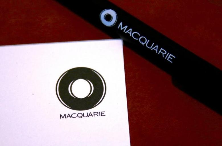 FILE PHOTO -  The logo of Australia's biggest investment bank Macquarie Group Ltd adorns a writing pad and pen located in the reception area of their Sydney office headquarters in Australia, October 28, 2016.    REUTERS/David Gray/File Photo