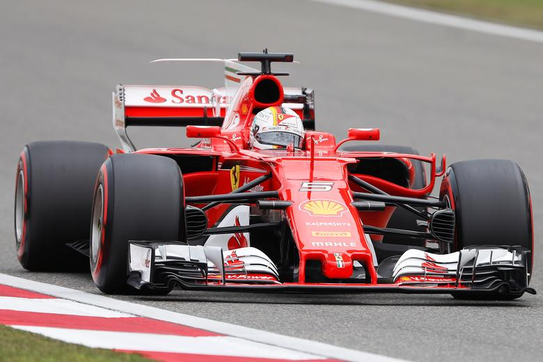 Formula One - F1 - Chinese Grand Prix - Shanghai, China - 08/04/17 - Ferrari driver Sebastian Vettel of Germany drives during the third practice session at the Shanghai International Circuit. REUTERS/Aly Song