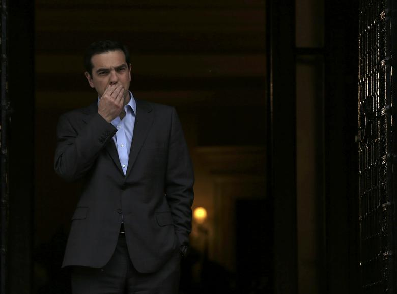 Greek Prime Minister Alexis Tsipras reacts before his meeting with German Foreign Minister Frank-Walter Steinmeier at his office in Maximos Mansion in Athens, Greece, April 7, 2017.  REUTERS/Alkis Konstantinidis