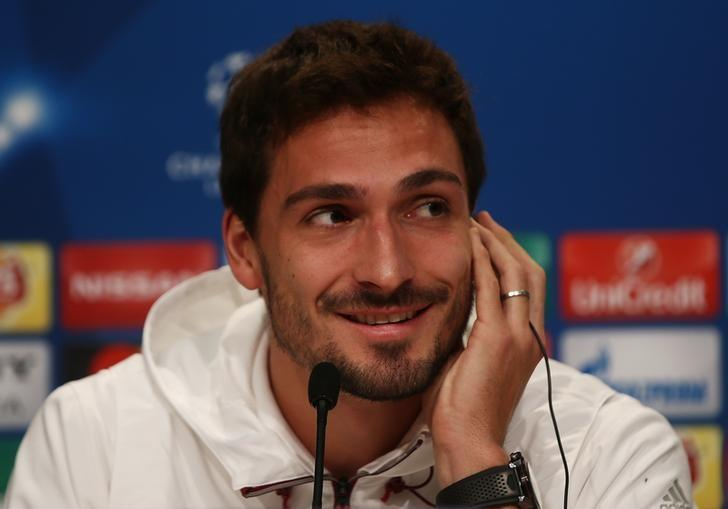 Football Soccer - Bayern Munich Press Conference - Allianz Arena - 14/2/17 Bayern Munich's Mats Hummels during the press conference Reuters / Michael Dalder Livepic