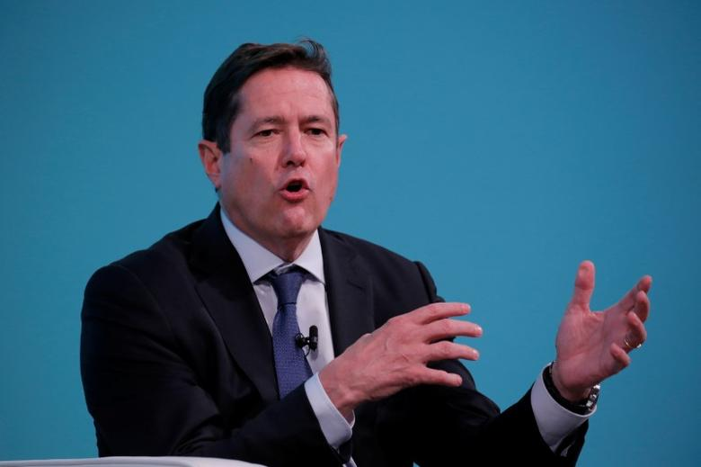 Chief executive officer of Barclays, Jes Staley, takes part in the Yahoo Finance All Markets Summit in New York, U.S., February 8, 2017. REUTERS/Lucas Jackson/Files