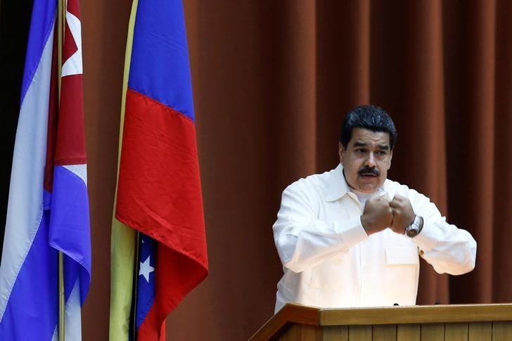 Venezuela's President Nicolas Maduro speaks during the XV Political Council of the Bolivarian Alliance for the Peoples of Our America - Peoples' Trade Treaty (ALBA-TCP) in Havana, Cuba, April 10, 2017. REUTERS/Stringer