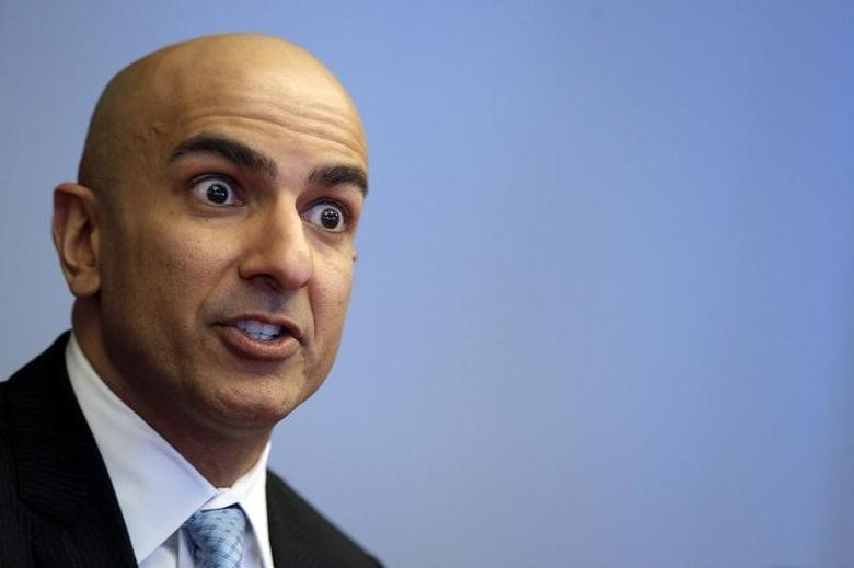 FILE PHOTO: Minneapolis Fed President Neel Kashkari speaks during an interview at Reuters in New York February 17, 2016. REUTERS/Brendan McDermid