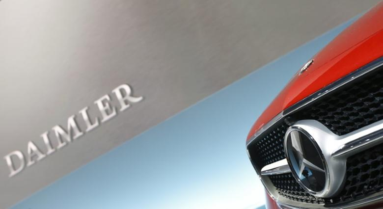 The Mercedes star logo of an E Coupe is pictured before the annual news conference of Daimler AG in Stuttgart, Germany, February 2, 2017.   REUTERS/Michaela Rehle