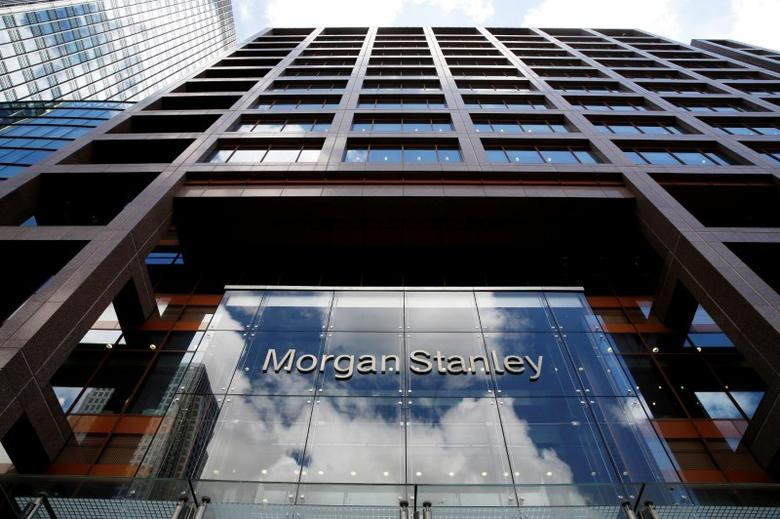 FILE PHOTO: A view of the Morgan Stanley London headquarters at Canary Wharf financial centre in London, Britain June 24, 2016.  REUTERS/Russell Boyce/File Photo