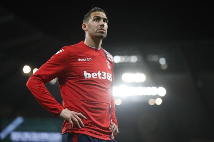 Britain Football Soccer - Manchester City v Stoke City - Premier League - Etihad Stadium - 8/3/17 Stoke City's Geoff Cameron before the match  Action Images via Reuters / Carl Recine Livepic