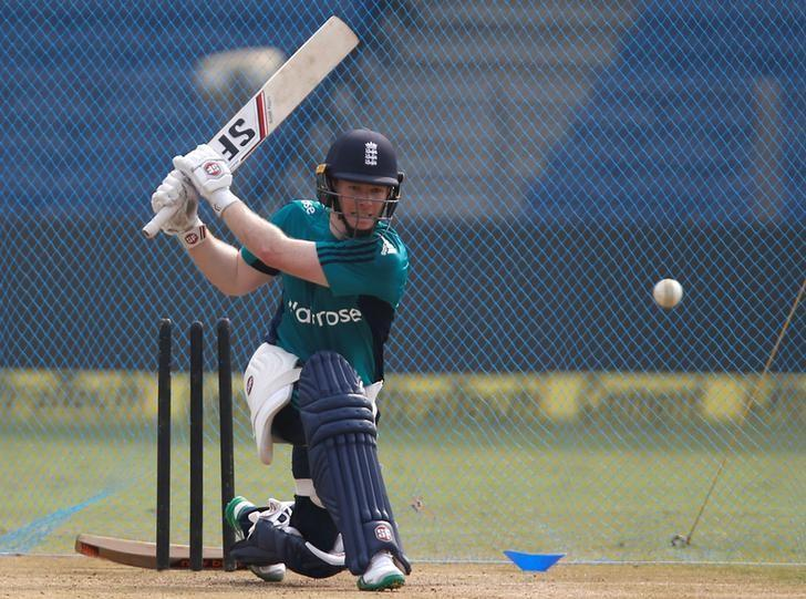 Cricket - England team practice session - Maharashtra Cricket Association Stadium, Pune, India - 14/01/17. England's captain Eoin Morgan bats in the nets ahead of their first One Day International match. REUTERS/Danish Siddiqui/Files