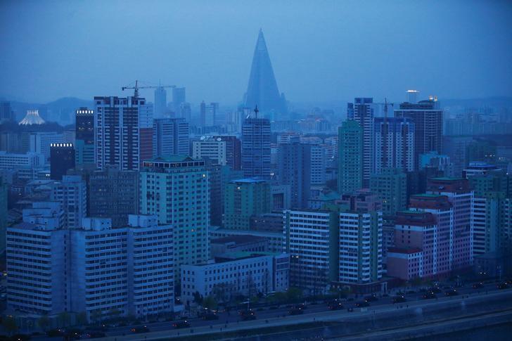 2017年4月13日,朝鲜首都平壤市中心。REUTERS/Damir Sagolj