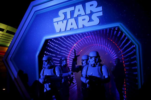 Characters of Star Wars take part in an event held for the release of the film ''Star Wars: The Force Awakens'' in Disneyland Paris in Marne-la-Vallee, France, December 17, 2015. REUTERS/Benoit Tessier/Files