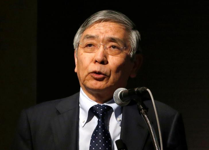 Bank of Japan (BOJ) Governor Haruhiko Kuroda speaks during a Reuters Newsmaker event in Tokyo, Japan March 24, 2017. REUTERS/Toru Hanai