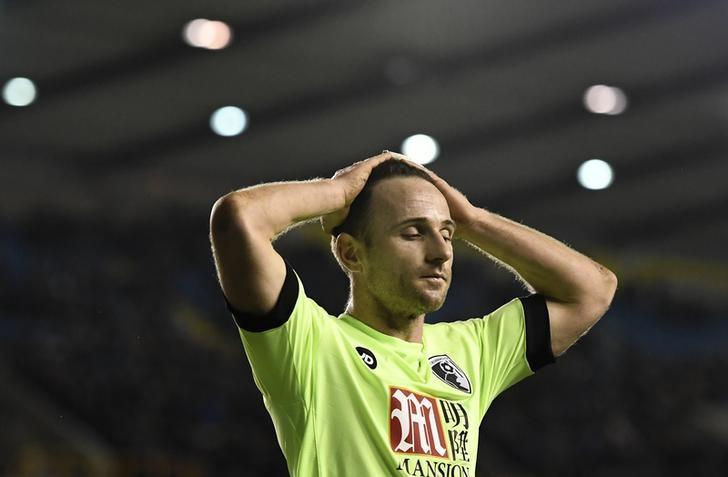 Britain Football Soccer - Millwall v AFC Bournemouth - FA Cup Third Round - The New Den - 7/1/17 Bournemouth's Marc Pugh looks dejected  Reuters / Dylan Martinez Livepic/Files
