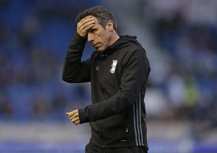 Britain Football Soccer - Brighton & Hove Albion v Birmingham City - Sky Bet Championship - The American Express Community Stadium - 4/4/17 Birmingham City manager Gianfranco Zola. Action Images / Henry Browne/ Livepic/ Files