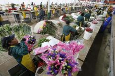 Una tienda de la industria de las flores en Colombia.  29 de enero 2015. La producción industrial y las ventas minoristas se contrajeron en Colombia durante febrero, en un reflejo de la desaceleración por la que atraviesa la cuarta economía de América Latina, revelaron el lunes cifras del Departamento Nacional de Estadísticas (DANE). REUTERS/John Vizcaino  (COLOMBIA - Tags: SOCIETY BUSINESS) - RTR4P779