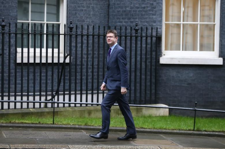 Britain's Secretary of State for Business, Energy and Industrial Strategy Greg Clark arrives at 10 Downing Street for a cabinet meeting ahead of the budget in London, March 8, 2017. REUTERS/Neil Hall/Files