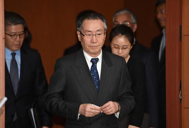 4月18日、北朝鮮と米国のあいだで高まる緊張を、交渉による解決でとりなそうとする中国の武大偉・朝鮮半島問題特別代表(中央)の奔走ぶりは、中国が募らせるいら立ちを浮き彫りにしている。韓国の首都ソウルで10日代表撮影(2017年 ロイター)