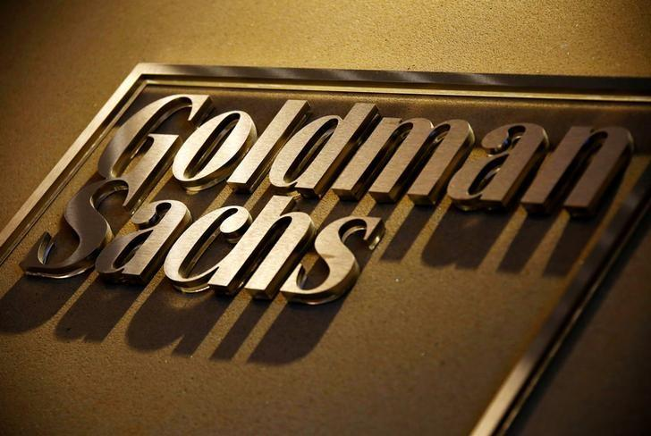 A sign is displayed in the reception of the Sydney offices of Goldman Sachs in Australia, May 18, 2016.    REUTERS/David Gray/File Photo