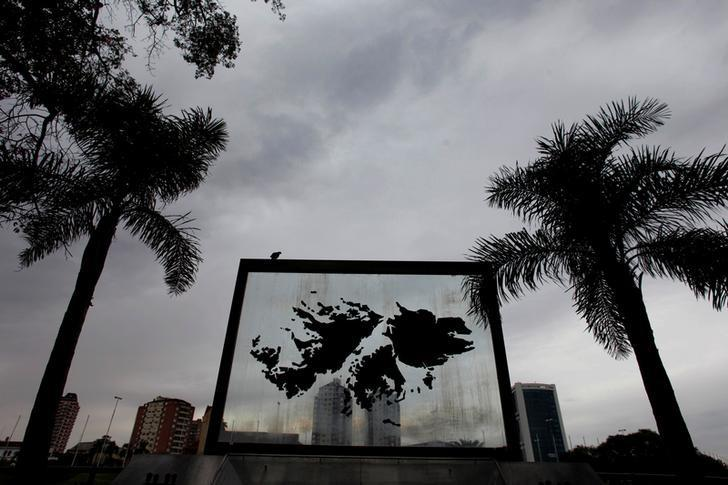 A monument of the Falkland Islands, known in Argentina as Islas Malvinas, in Tigre, Argentina, March 3, 2017. Picture taken March 3. REUTERS/Martin Acosta