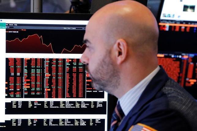 4月20日、米国株式市場は主要指数がそろって上昇し、ナスダック総合は過去最高値を更新した。3月撮影(2017年 ロイター/Lucas Jackson)