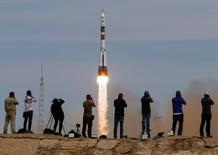 Soyuz decola de Baikonur 20/4/2017 REUTERS/Shamil Zhumatov