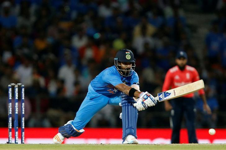 Cricket - India v England - Second T20 International - Vidarbha Cricket Association Stadium, Nagpur, India - 29/01/17. India's Lokesh Rahul plays a shot. REUTERS/Danish Siddiqui/Files