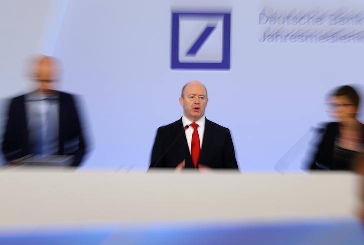 Deutsche Bank CEO John Cryan addresses the bank's annual news conference in Frankfurt, Germany, February 2, 2017.    REUTERS/Kai Pfaffenbach