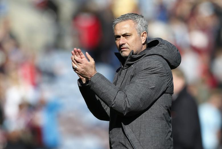 Britain Football Soccer - Burnley v Manchester United - Premier League - Turf Moor - 23/4/17 Manchester United manager Jose Mourinho applauds fans after the match  Reuters / Andrew Yates Livepic