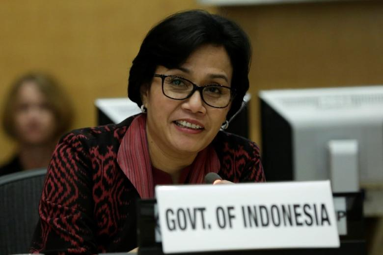 Indonesian Finance Minister Sri Mulyani Indrawati participates in a discussion ''Investing in the Early Years: Identifying Synergies and Catalyzing Action'' at the World Bank headquarters in Washington, U.S., April 19, 2017. REUTERS/Yuri Gripas