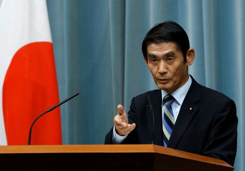 Japan's State Minister in charge of Reconstruction Masahiro Imamura speaks at a news conference at Prime Minister Shinzo Abe's official residence in Tokyo, Japan, August 3, 2016. REUTERS/Kim Kyung-Hoon/Files