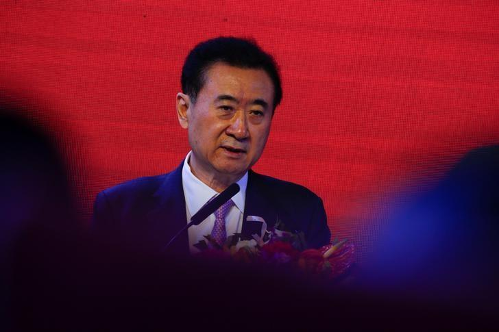 Wang Jianlin, Chairman of the Wanda Group, speaks during a joint media event with China Union Pay in Beijing, China March 2, 2017. REUTERS/Thomas Peter/Files