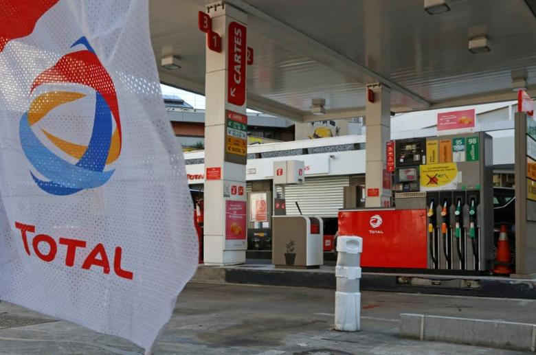 The logo of French oil company Total is seen at a Total gas station in Paris, France, April 19, 2016. REUTERS/Jacky Naegelen